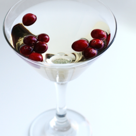 Cranberry Pear Champagne Cocktail