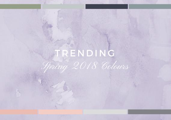 Trending: Spring 2018 Colours