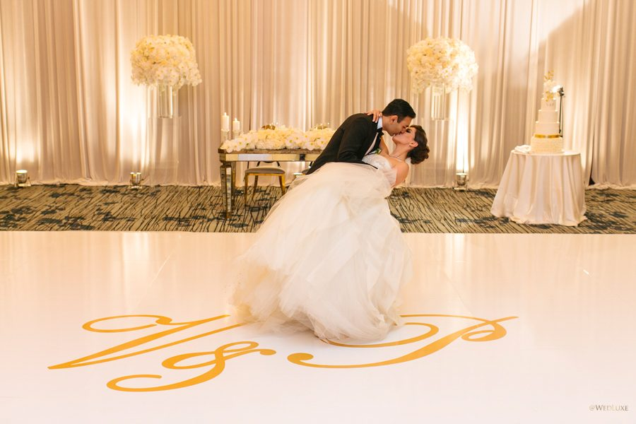 WedLuxe:  White & Gold Romance